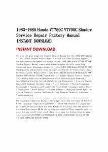 1983 1985 Honda Vt750 C Vt700c Shadow Service Repair