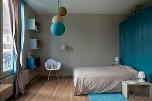 deco chambre bleu turquoise With chambre turquoise et noir
