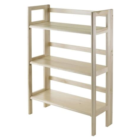 winsome wood folding bookcase cheap winsome wood stackable folding 3 tier shelf natural