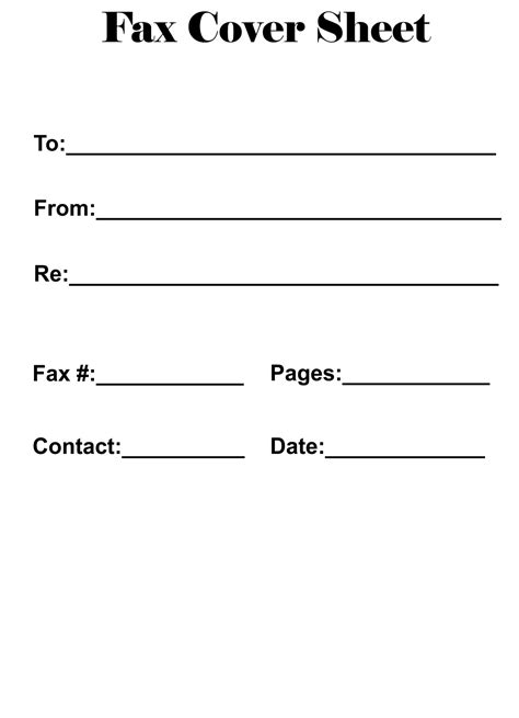 printable fax cover sheet catchy printable template