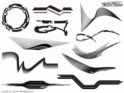 Line Vector Elements Vectors Clipart Shape Psd