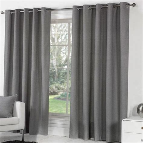 plain eyelet curtains  grey fusion sorbonne curtain