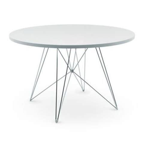 magis tavolo xz tisch rund weiss gestell chrom   cm