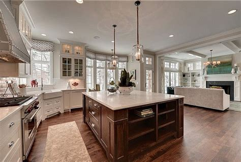 Ideas For Kitchen And Family Room by Beautiful Wonderful Open Kitchen Area The Wide
