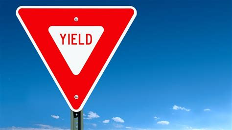 red yield sign  referencecom