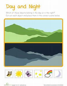 Day and Night for Kids   Worksheets, School and Activities