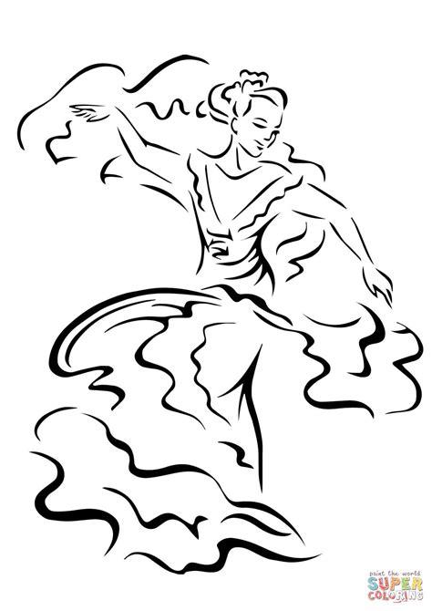 cinco de mayo dancer coloring page  printable