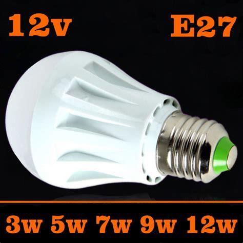 led bulbs 3w 5w 7w 9w 12w dc 12v e27 12 volt led jogo de