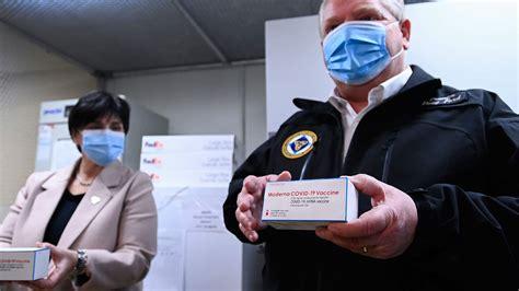 Ontario receives 1st Moderna vaccines as COVID-19 cases climb