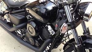 2008 Yamaha V-star 650 Cold Start  75 Degrees