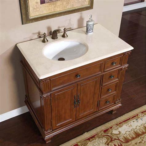 36 Inch Single Sink Bathroom Vanity With Cream Marfil