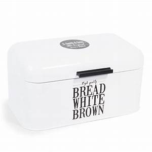 Boite Lumineuse Maison Du Monde : bo te pain en m tal blanche wallace maisons du monde ~ Preciouscoupons.com Idées de Décoration