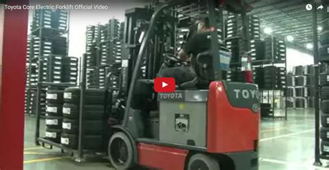 toyota core electric forklift official video toyota
