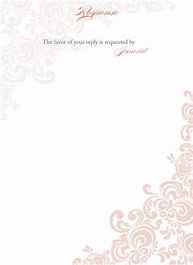 Floral blank wedding invitation templates for Pictures of blank wedding invitations