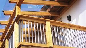 Balkonverkleidung Aus Holz : balkon aus holz und edelstahl ~ Lizthompson.info Haus und Dekorationen