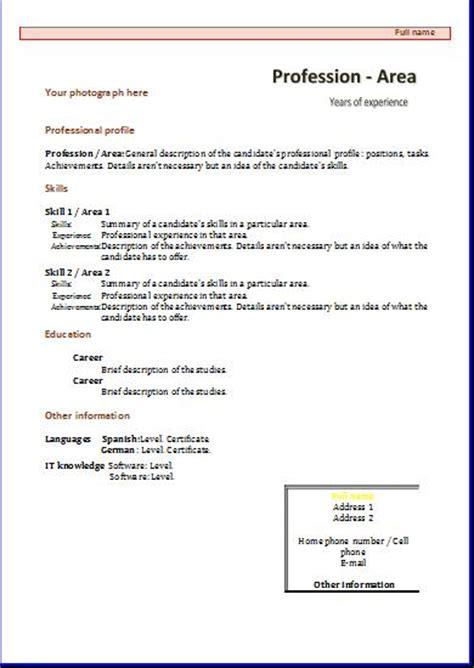 Cv Templates Functional 1 Resume Templates