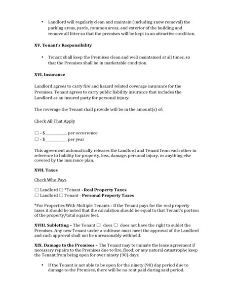 pennsylvania commercial lease agreement