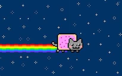 Nyan Cat Meme Laptop Anime Kawaii Cats