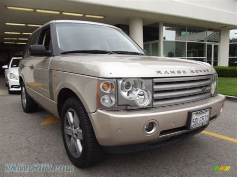 black and gold range rover 2003 land rover range rover hse in white gold metallic