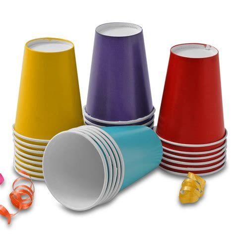 color cup colored cold paper cups