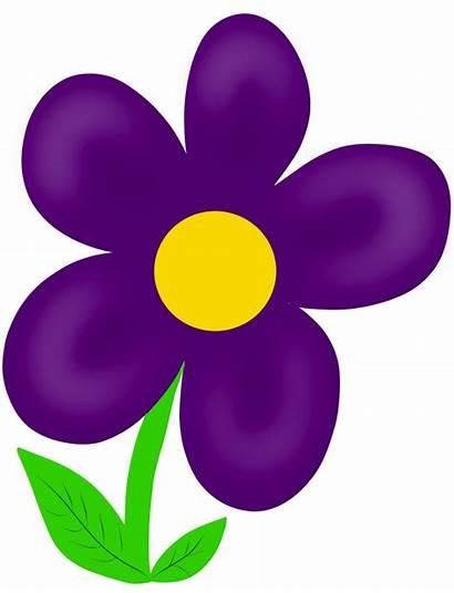 Clipart Summer Purple Clip Flower Flowers Clipground