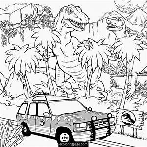 Jurassic World T Rex Indominus Rex Coloring Page