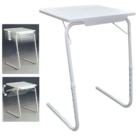 folding lap tray table white folding foldable portable mate tv dinner laptop tray