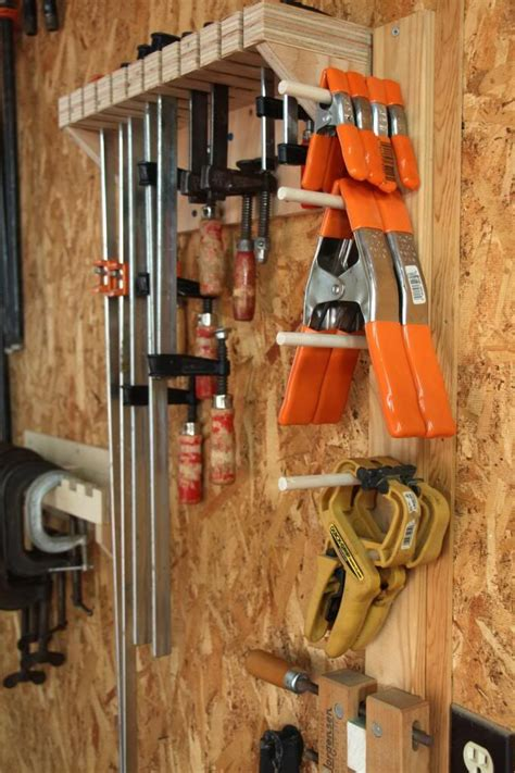diy wood clamp storage woodworking projects plans