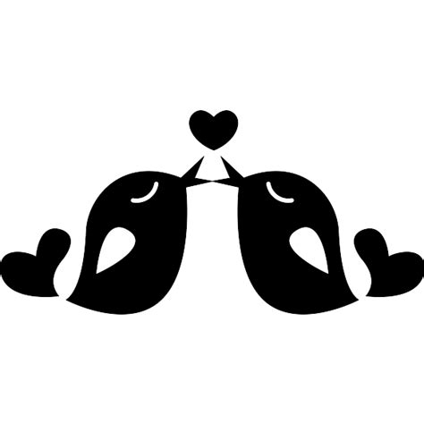 All contents are released under creative commons cc0. Couple of love birds in love - Free animals icons