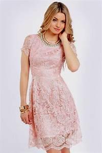 short pink lace dress Naf Dresses