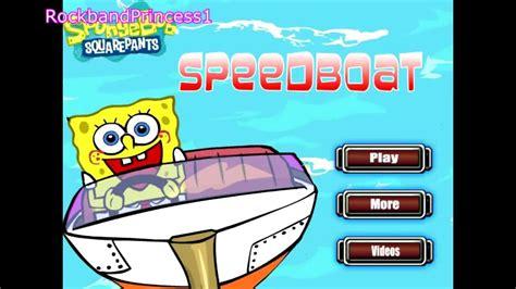 Free Online Speed Boat Games by Spongebob Squarepants Online Games Speed Boat Game Youtube