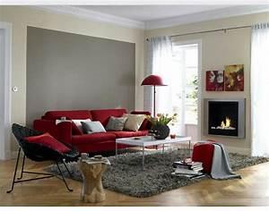Wohnzimmer Farbe Ideen : rotes sofa kombinieren nette ideen in 2019 ~ Orissabook.com Haus und Dekorationen