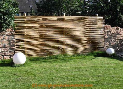 Sichtschutz Garten Leicht by Bambuszaun Einfache Elegante Bambusz 228 Une F 252 R Die