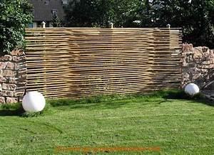 Bambuszaun einfache elegante bambuszaune fur die for Garten planen mit natur sichtschutz balkon