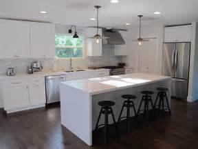 white kitchen island with top l shaped kitchen transitional kitchen interiors