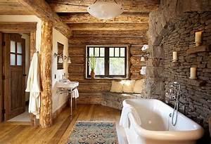 salle de bain pierre et bois une beaute naturelle With salle de bain pierre et bois