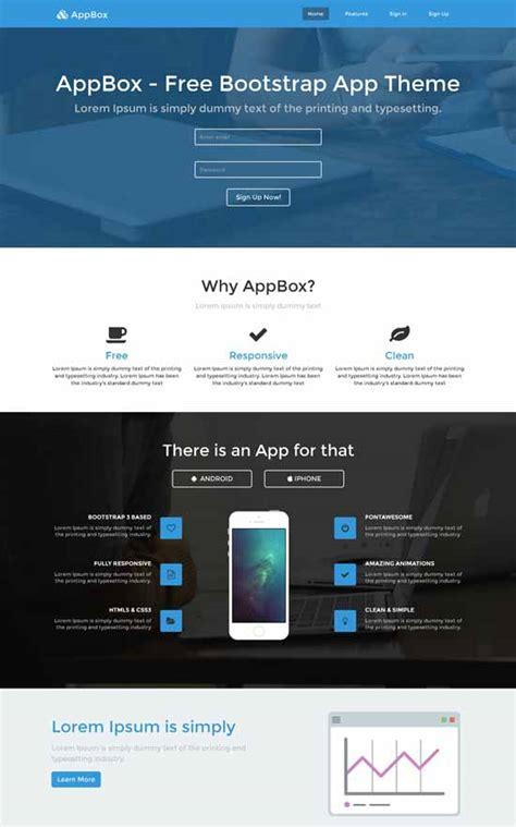 Free Landing Page Templates 30 Free Responsive Landing Page Templates 2015