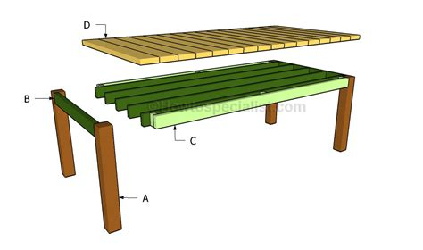 dining table construction plans dining table plans howtospecialist how to build step