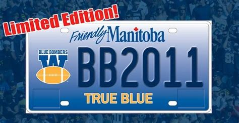 Modification License Winnipeg by Blue Bombers To Get Custom Licence Plate Chrisd Ca