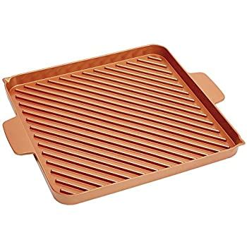 amazoncom gotham steel nonstick copper double grill  griddle reversible  ti cerama