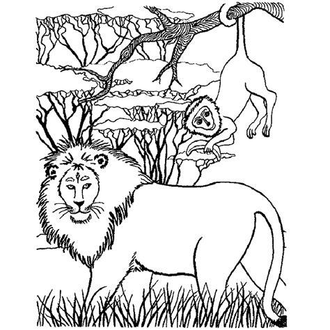 Kleurplaat Roofdieren by Leuk Voor Een Leeuw Op De Savanne