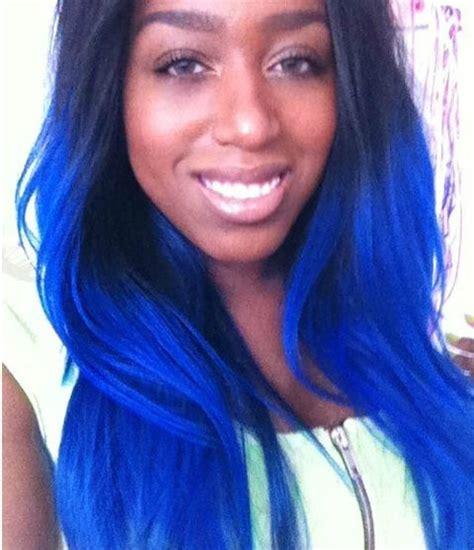 Pastel Royal Blue Ombre Hair Dip Dyed Hair Pinterest