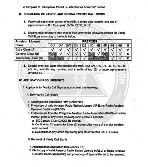 Vanity Call Sign by Philippine Radio Association Para Inc