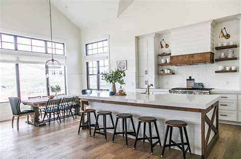 kitchen island table with stools modern farmhouse style in utah features stylish living spaces