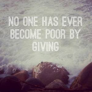 Quotes About Giving And Generosity. QuotesGram