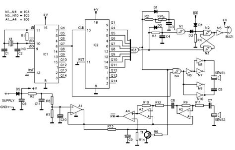 Ultrasonic Parking Sonar Circuit Design Project