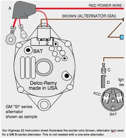 delco remy alternator wiring diagram wiring diagram and schematics