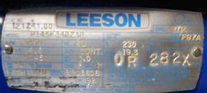 Leeson Electric Corp  P145k34dz1b Floor Sander Motor Repair