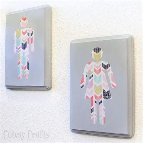diy wall art for the bathroom cutesy crafts
