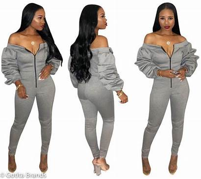 Trendy Jumpsuit Gray Sleeves Outfits Outfit Styles